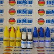 6 készlet HOSCH-KLEBER IPARI RAGASZTÓ ÉS GRANULÁTUM 40 grammos ragasztókészlet 15 ml ajándék felület kezelővel